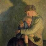 Mother & Child, Candlelight 1909 Cheltenham