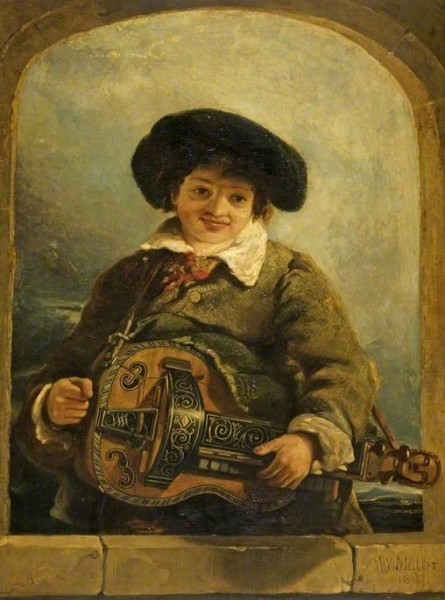 Muller, William James; An Italian Boy with a Hurdy-Gurdy; Cheltenham Art Gallery & Museum; http://www.artuk.org/artworks/an-italian-boy-with-a-hurdy-gurdy-61931