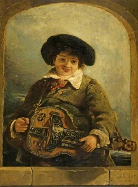 Muller, William James; An Italian Boy with a Hurdy-Gurdy; Cheltenham Art Gallery & Museum; http://www.artuk.org/artworks/an-italian-boy-with-a-hurdy-gurdy-61931