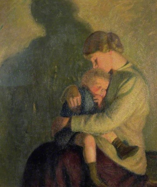 Rothenstein, William; Mother and Child, Candlelight; Cheltenham Art Gallery & Museum; http://www.artuk.org/artworks/mother-and-child-candlelight-62003