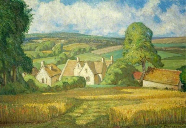 Thornton, Alfred Henry Robinson; Hill Farm, Painswick, Gloucestershire; Cheltenham Art Gallery & Museum; http://www.artuk.org/artworks/hill-farm-painswick-gloucestershire-62065
