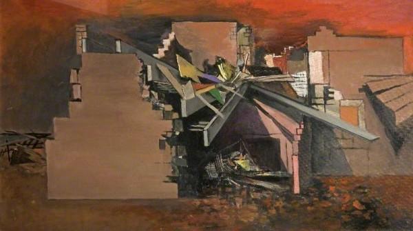 Sutherland, Graham Vivian; Devastation, House in Wales; Cheltenham Art Gallery & Museum; http://www.artuk.org/artworks/devastation-house-in-wales-62058