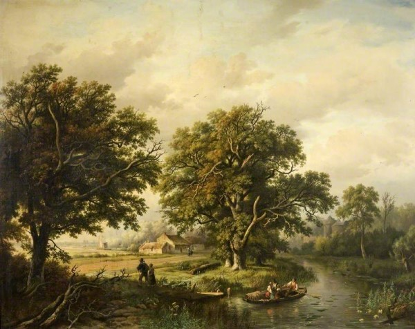 Bodemann, Willem; Wooded Landscape; Cheltenham Art Gallery & Museum; http://www.artuk.org/artworks/wooded-landscape-61669