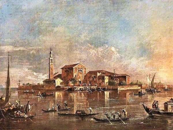 Guardi, Francesco; The Island of San Giorgio in Alga, Venice, Italy; Cheltenham Art Gallery & Museum; http://www.artuk.org/artworks/the-island-of-san-giorgio-in-alga-venice-italy-61819