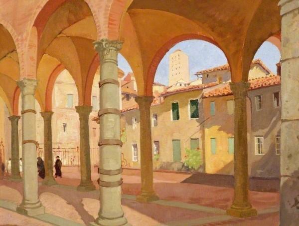 Bell, Arthur; Portico dei Comuni, Siena, Italy; Cheltenham Art Gallery & Museum; http://www.artuk.org/artworks/portico-dei-comuni-siena-italy-61655