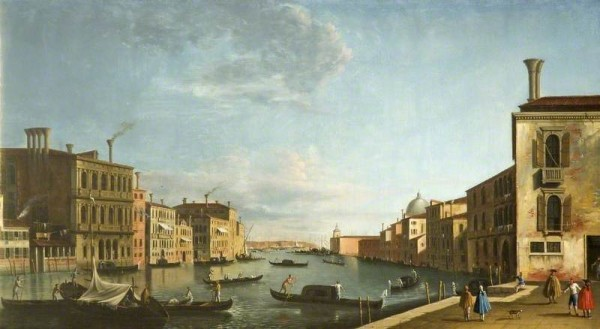 Tironi, Francesco; Venice, Italy (The Grand Canal from the Campo San Vio towards the Bacino); Cheltenham Art Gallery & Museum; http://www.artuk.org/artworks/venice-italy-the-grand-canal-from-the-campo-san-vio-towards-the-bacino-62071