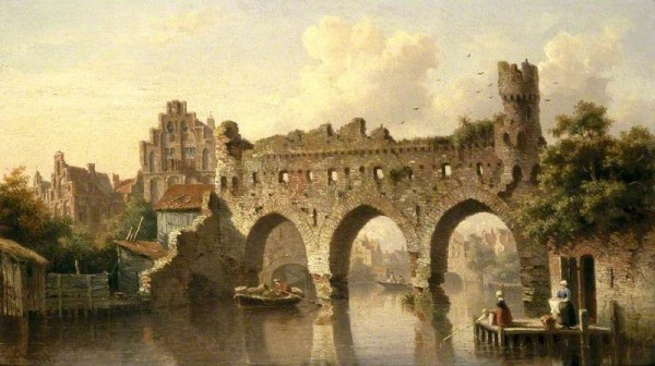 Koster, Everhardus; Ruins over the River Birchel at Zutphen, The Netherlands; Cheltenham Art Gallery & Museum; http://www.artuk.org/artworks/ruins-over-the-river-birchel-at-zutphen-the-netherlands-61884