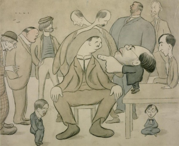 The New English Art Club 1907 Sir Max Beerbohm 1872-1956 Purchased 1952 http://www.tate.org.uk/art/work/N06075