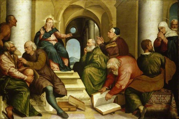 Bassano the elder, Jacopo; Christ among the Doctors; The Ashmolean Museum of Art and Archaeology; http://www.artuk.org/artworks/christ-among-the-doctors-141668